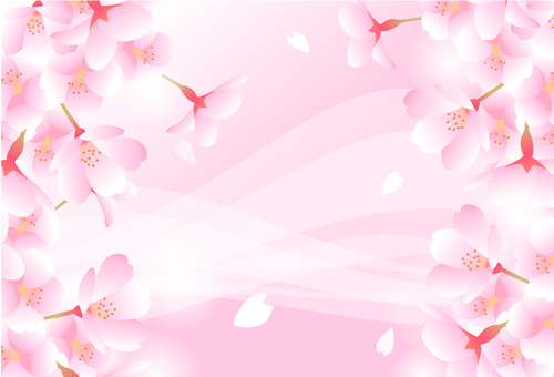 Cherry Pink Background and Wave