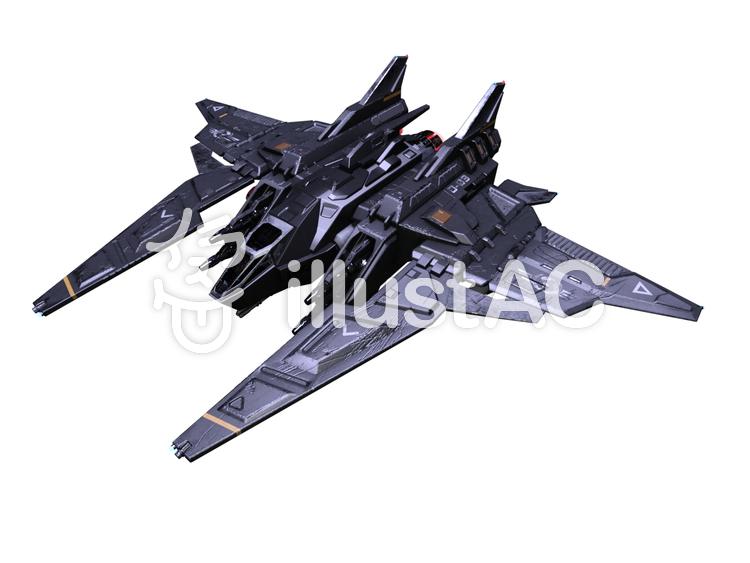 小型戦闘機のイラスト