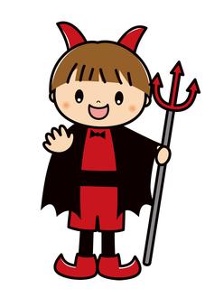 ハロウィン 仮装 子供 悪魔