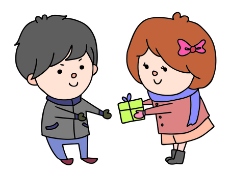 Couple and gifts