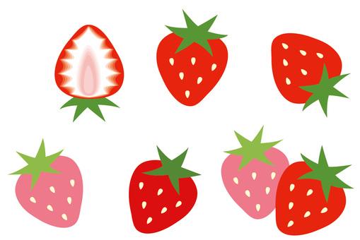 一點點粗糙的草莓