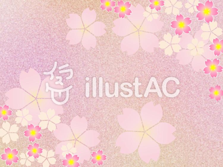 桜の花の壁紙イラスト和風柄の背景素材イラスト No 991712無料