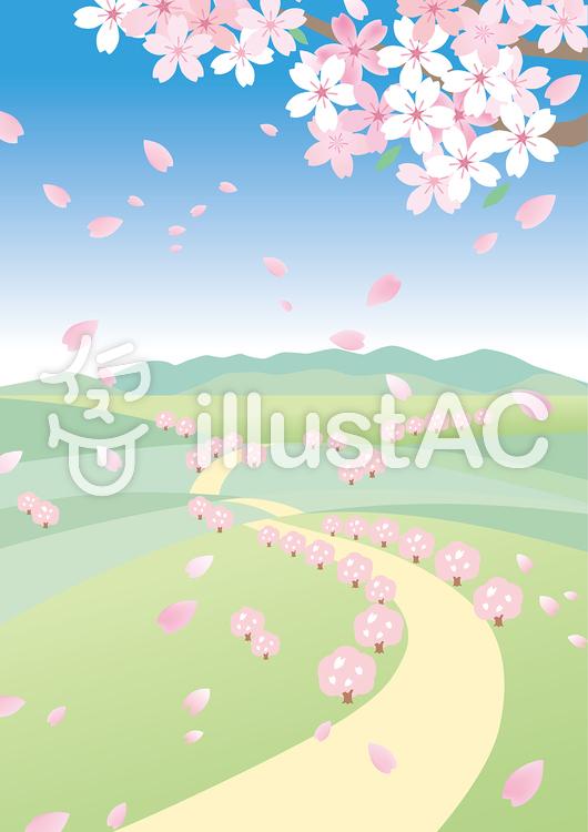 春の風景 桜5イラスト No 1390722無料イラストならイラストac