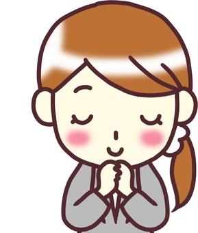 [여성 정장] 아래 _기도