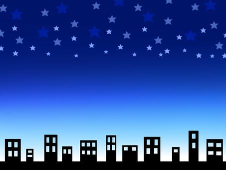 Urban blue night sky