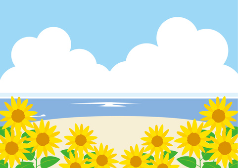 Sunflower _ Ocean scenery