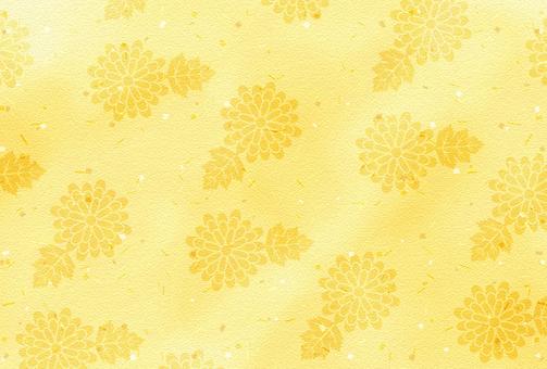And handle / gold / chrysanthemum