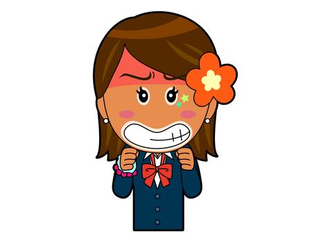 Get angry _ Kogal high school girl A_012