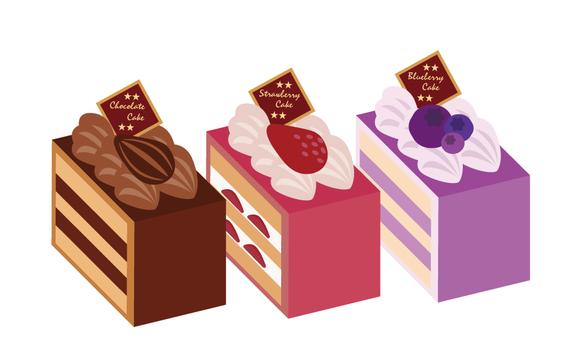 3 cakes set