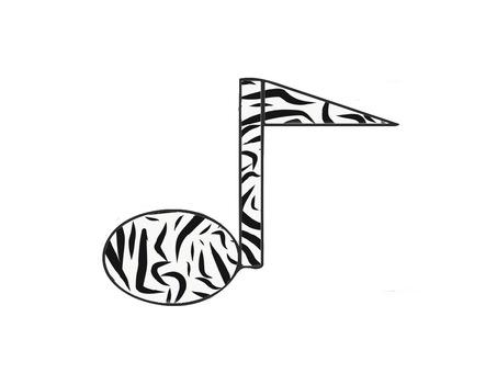 Zebra pattern note