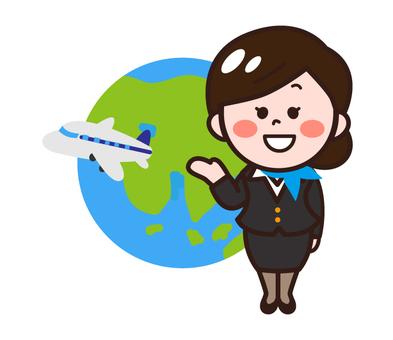 Cabin attendant (international flight)