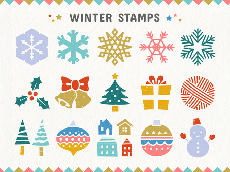 Winter · Christmas stamp set