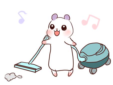 お掃除ハム
