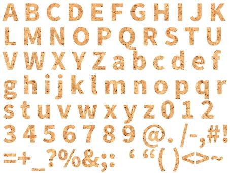 코르크 디자인 문자 집합