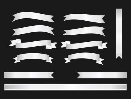 Silver ribbon set