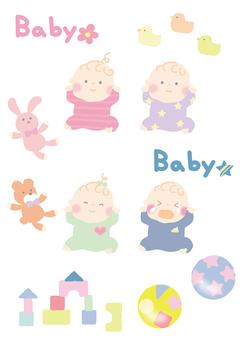 Baby illustration set 1