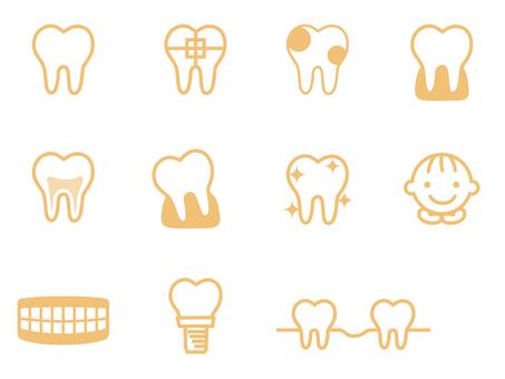 Icon for dentist Orange