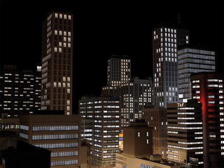 도시의 야경 CG