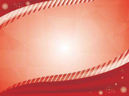 Red velvet decorative frame