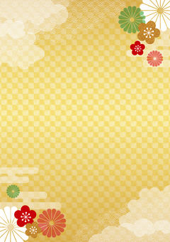 Japanese style gold color 05 _ vertical