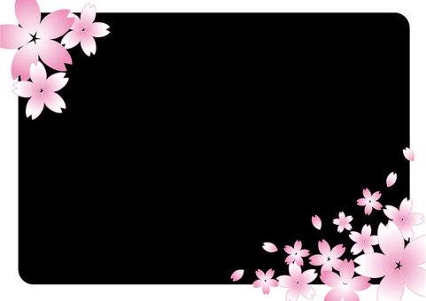 櫻花框架黑色01