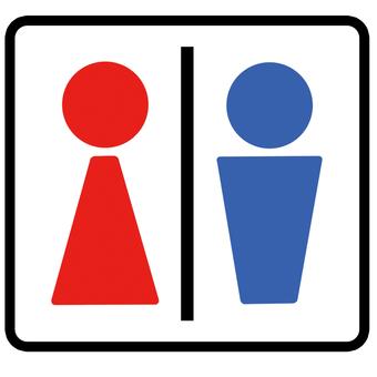 Toilet icon mark