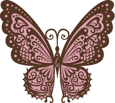 Butterfly (peach color)