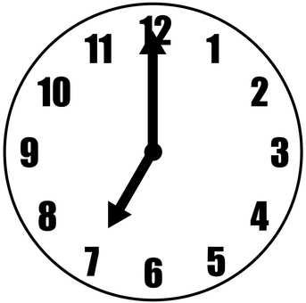 4 O Clock Free Cliparts Illustac