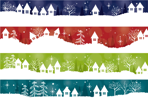 Winter banner set 2