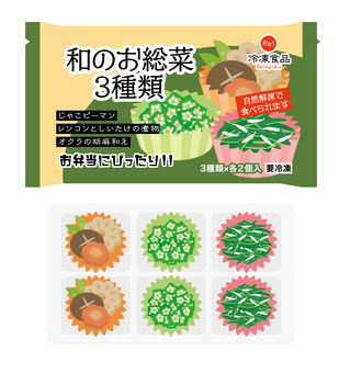 Frozen food Japanese side dishes