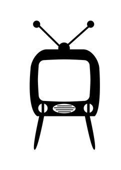 레트로 텔레비전 (흑백)