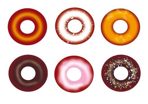 甜甜圈設置材料