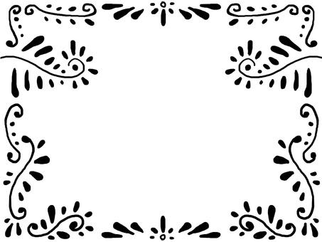 Black antique style frame
