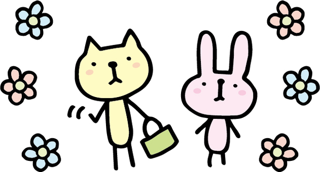 Usagi and cat