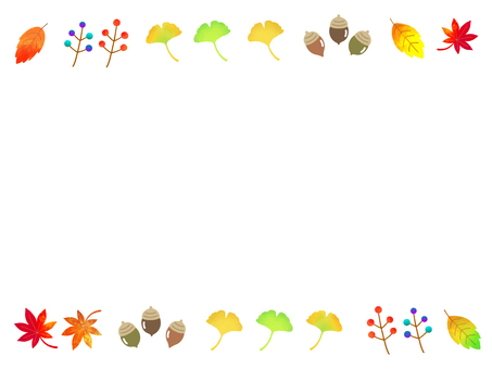 Autumn colorful leaves frame