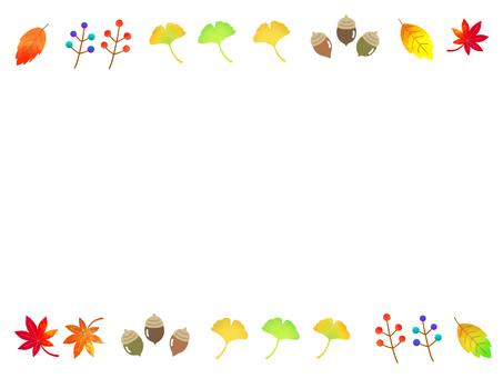 가을의 화려한 단풍 프레임