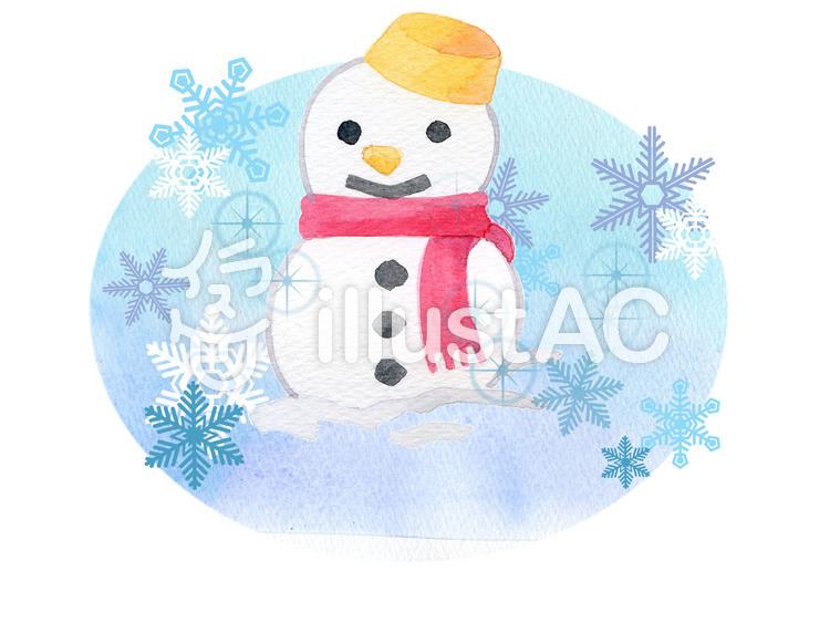 雪だるま ★0251-Eのイラスト