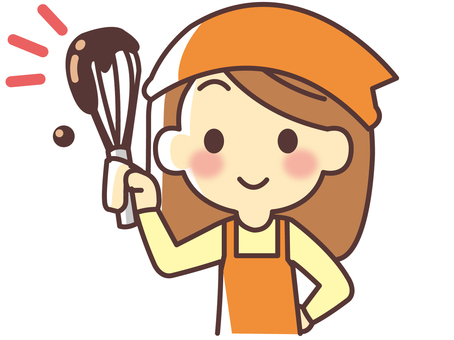 Valentine's chocolate making woman (042)