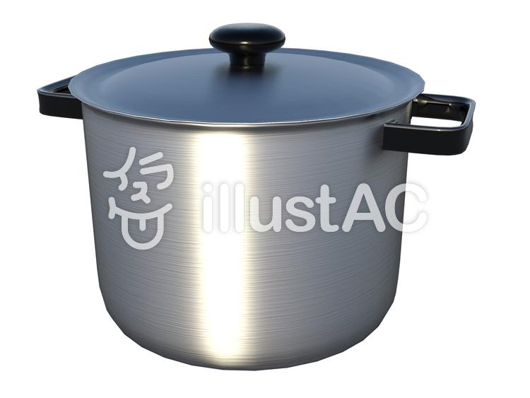 アルミ鍋のイラスト