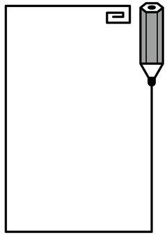 鉛筆フレームタテ2c