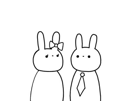 Two rabbits 3 of three
