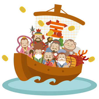 Treasure ship Seven Lucky God