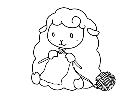 Sheep knitting yarn