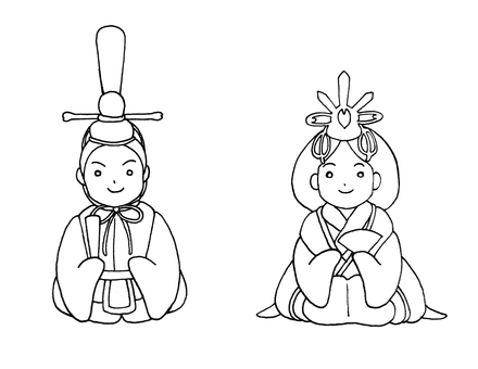 Hina doll illustration