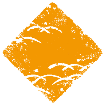Stamp angle _ lawn deep _ orange _ cs