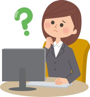 一個扮演個人電腦的女人