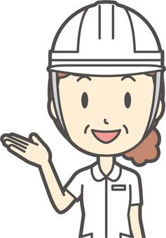 Middle-aged female nurse white coat-116-Bust
