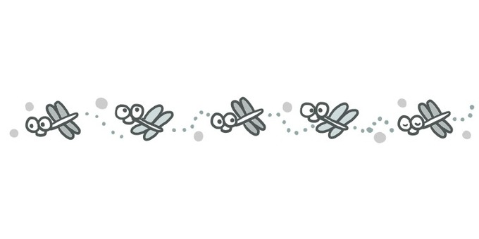 A dragonfly line