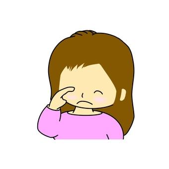 Eyeball fatigue lady