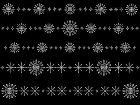 Geometric pattern line set (light gray)